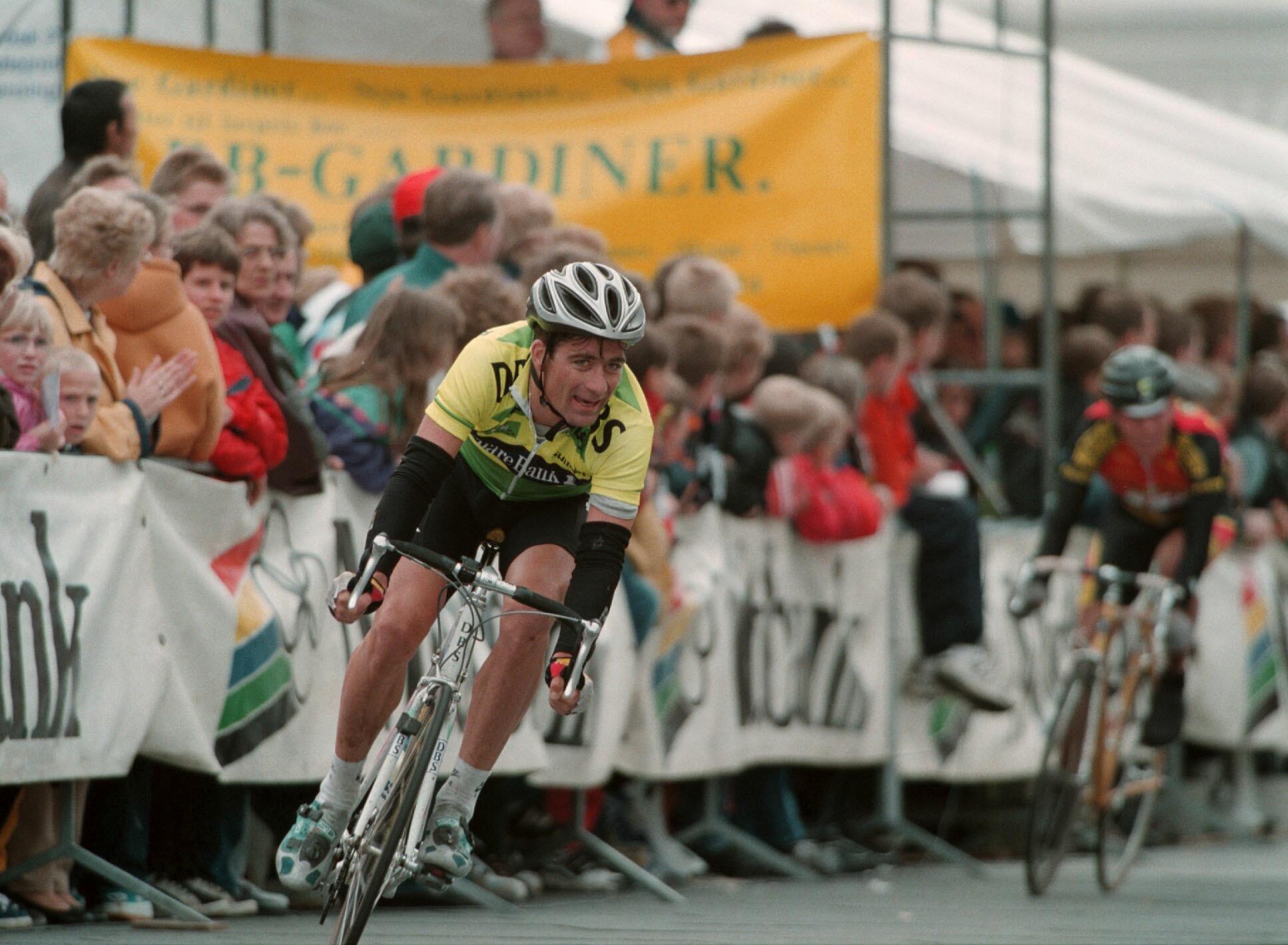Politiken Herning 11.5.97 Grand Prix Midtbank. Bjørn Stenersen Norge Team Bjørgvin . Scan-Foto/Polfoto: Claus Bonnerup