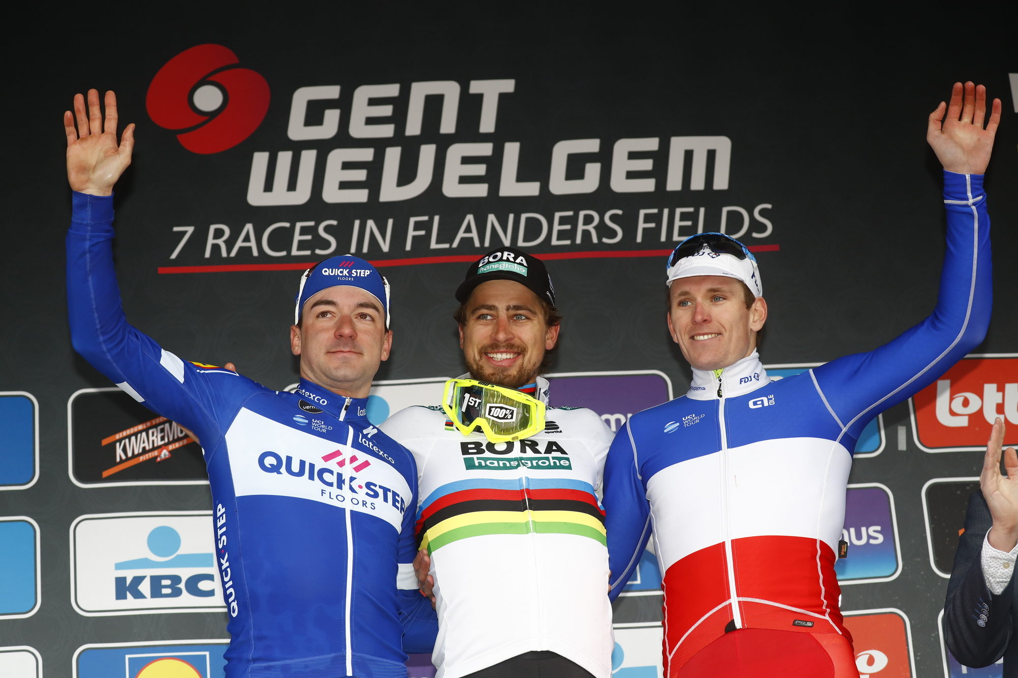 Sagan vant Gent-Wevelgem, Kristoff hektet av i Kemmelberg