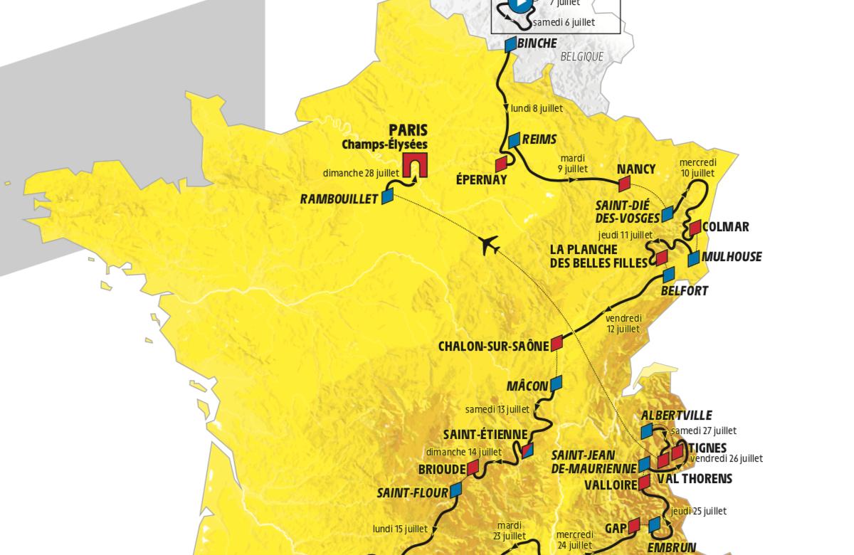 Brutal løype i neste års Tour de France