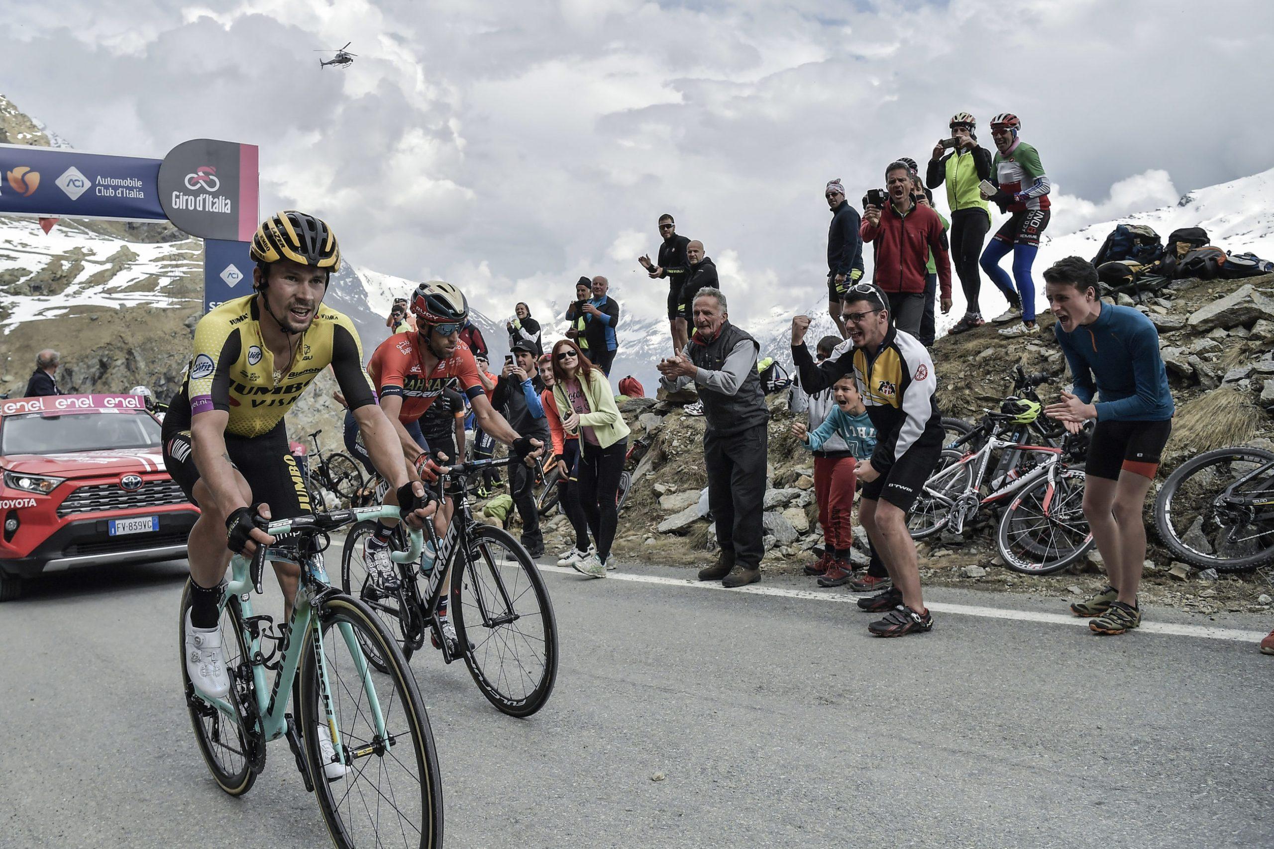 Nibali tok tid på Roglic på Mortirolo